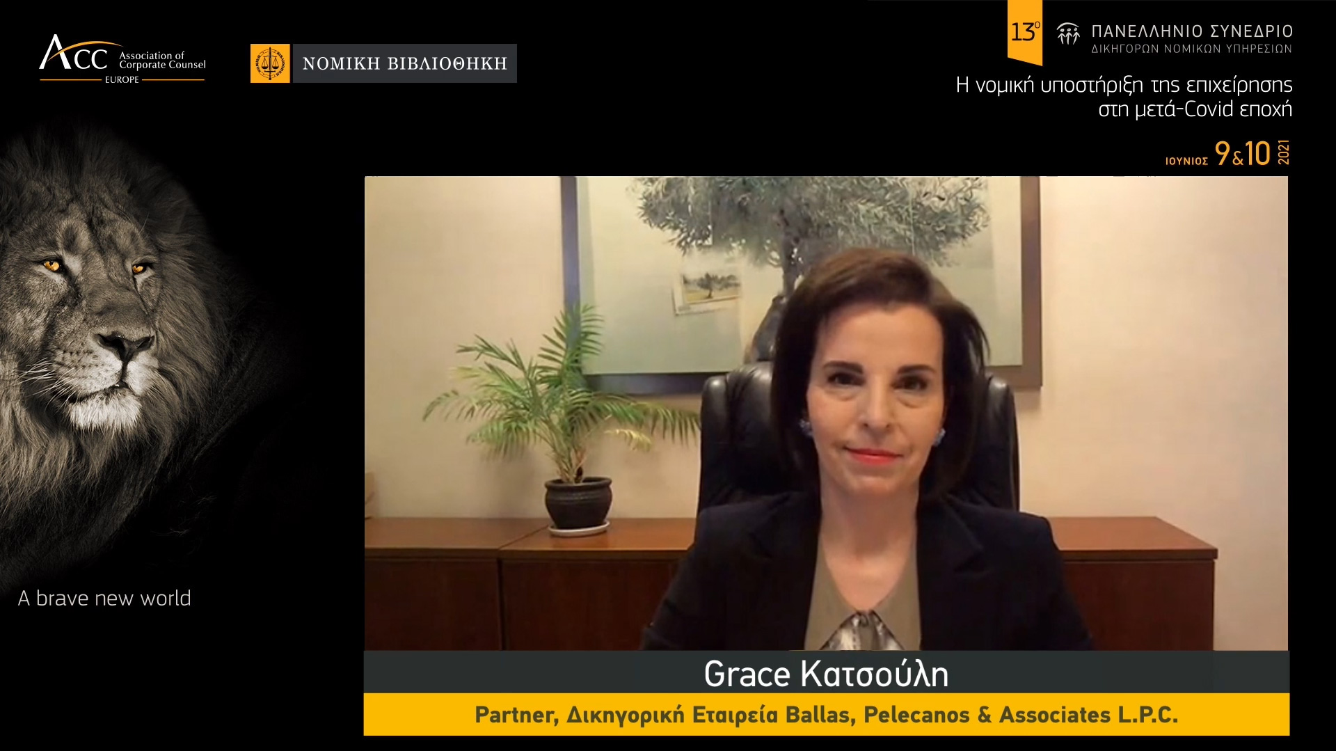 """On June 9, 2021, Grace Katsoulis, Partner, spoke at the """"13th National Conference of In-House Counsel"""""""